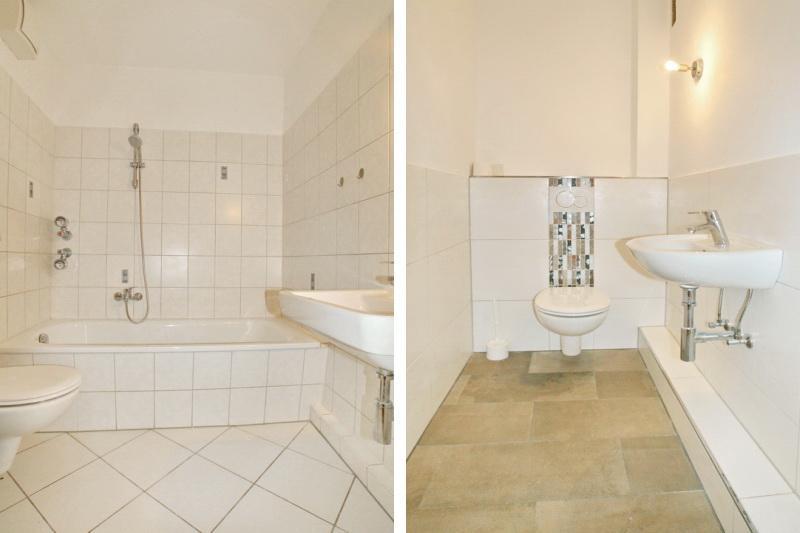 Wannenbad und Gäste-WC